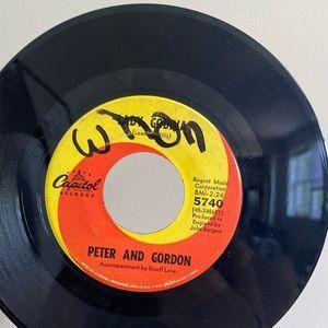 Vintage Accents - PETER AND GORDON 45 VINYL